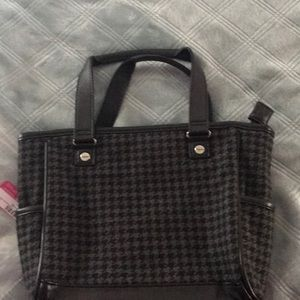 Thirty One mini Cindy in houndstooth